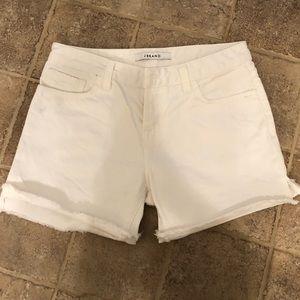 Jbrand white cutoff jean shorts